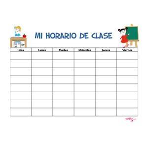 Horario escolar con alumnos
