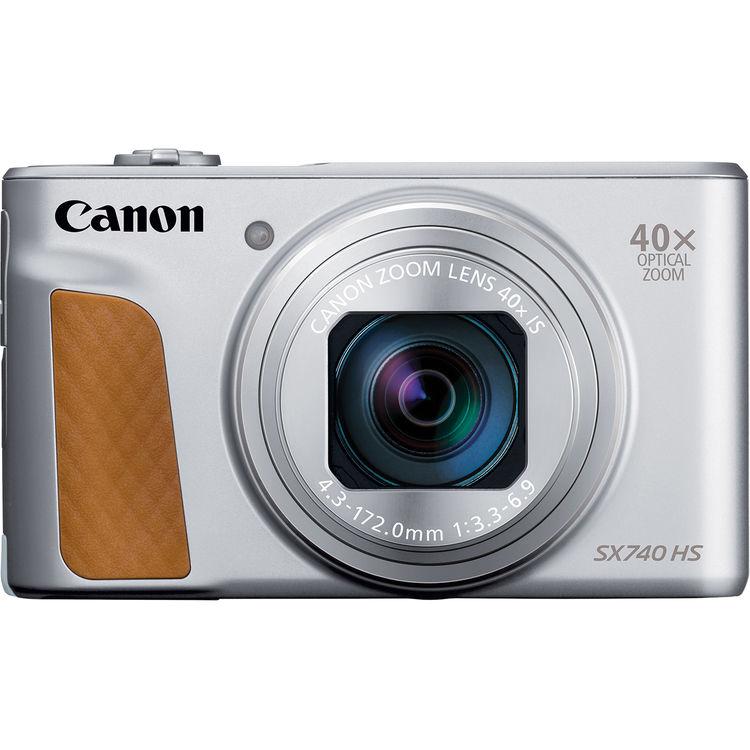 Canon PowerShot SX740 HS серебристого цвета