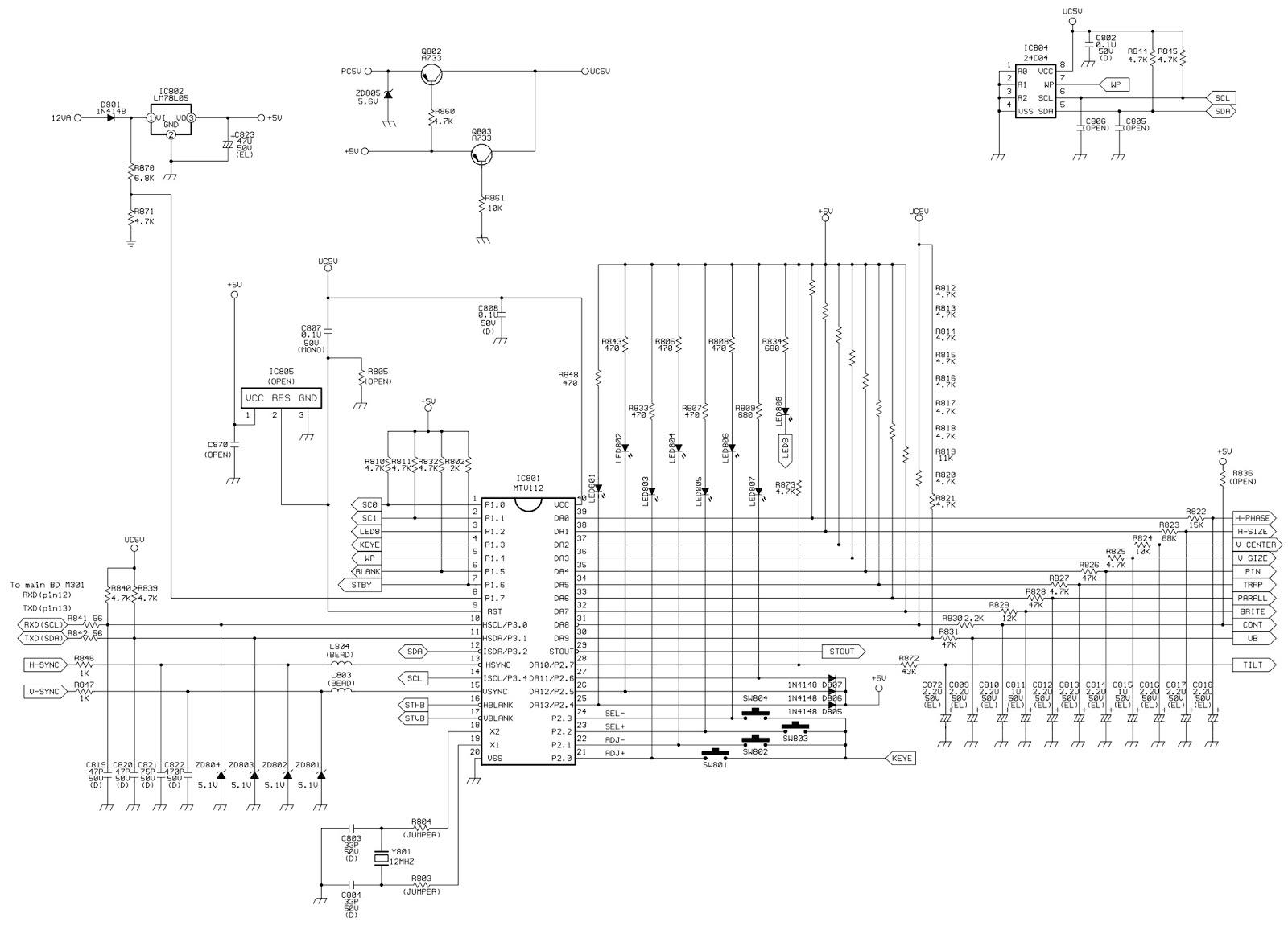 Hp D Acer Crt Monitor Circuit Diagram Full