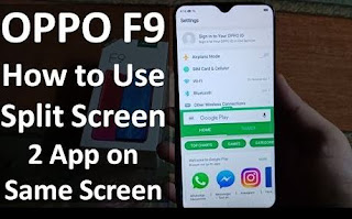 Cara Split Screen OPPO F9