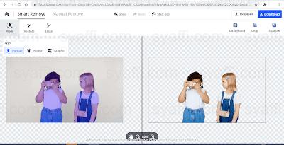 menghilangkan background putih online
