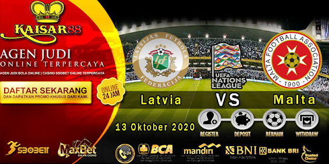 Prediksi Bola Terpercaya Ajang UEFA Nations Latvia vs Malta 13 October 2020