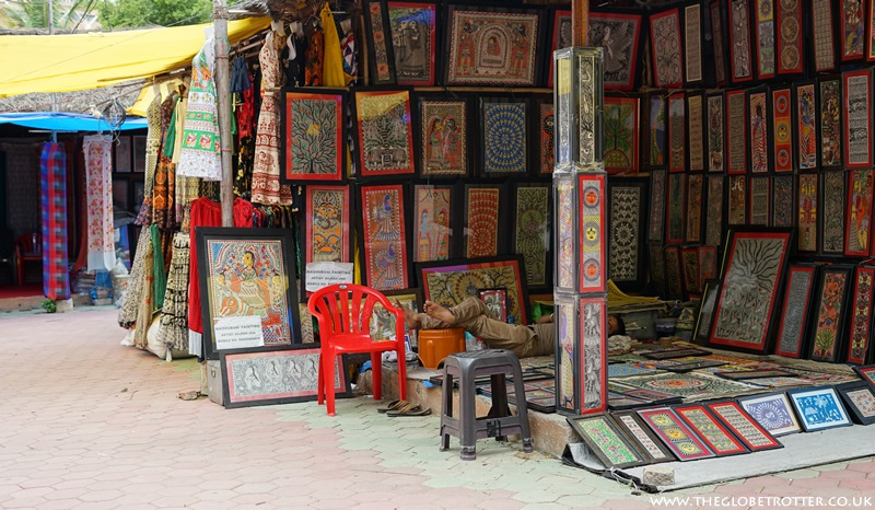 Stall selling Paintings at Shilparamam