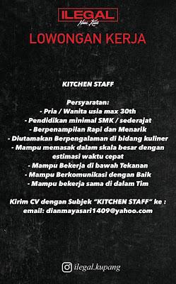 Lowongan Kerja Kitchen Staff di Nasi Kulit Ilegal Kupang