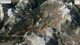 Overview of the Ra Stua hike.