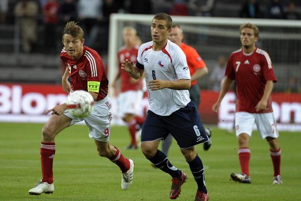Dinamarca y Chile en partido amistoso, 12 de agosto de 2009