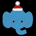 クリスマスの顔マーク(象)
