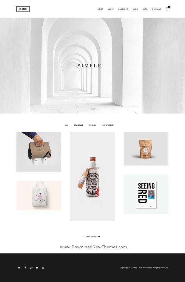 Clean & Minimal Portfolio Template