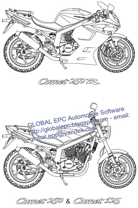 AUTO MOTO REPAIR MANUALS: HYOSUNG COMET GT125 GT250