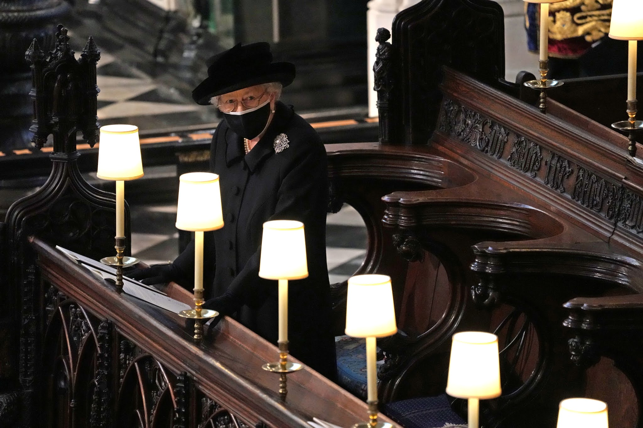 That is why ... Queen Elizabeth stands alone in bidding farewell to her late husband, Prince Philip