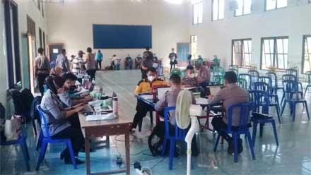 Vaksinasi Merdeka Candi Polres Purworejo di Desa Pituruh