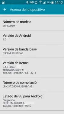 GALAXY S5 LOLLIPOP OFICIAL