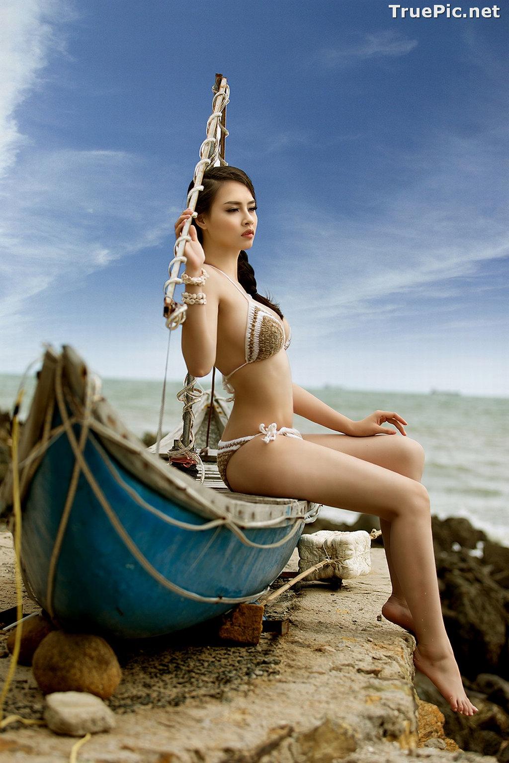 Image Vietnamese Hot Model - Thuy Trang - Wool Bikini Collection - TruePic.net - Picture-2