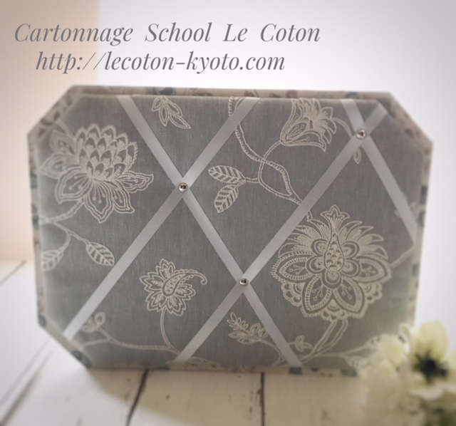 カルトナージュ教室:リボンボード