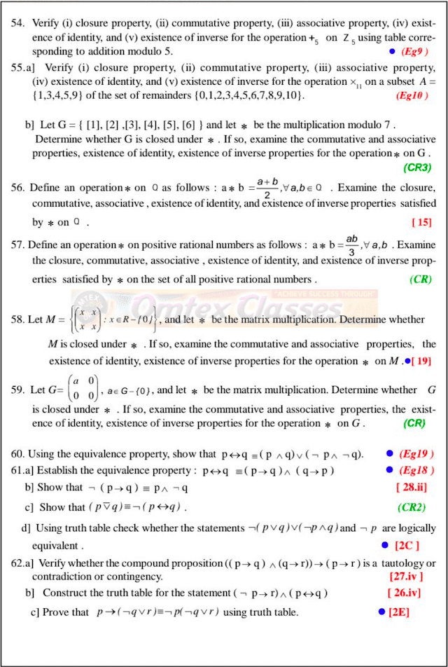 XII Std Maths Selected Questions for Slow Learners 2021