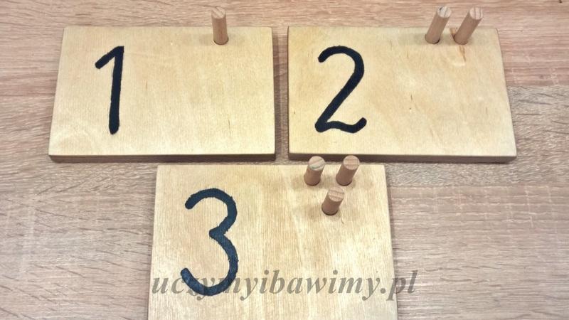 Tabliczki z liczbami DIY