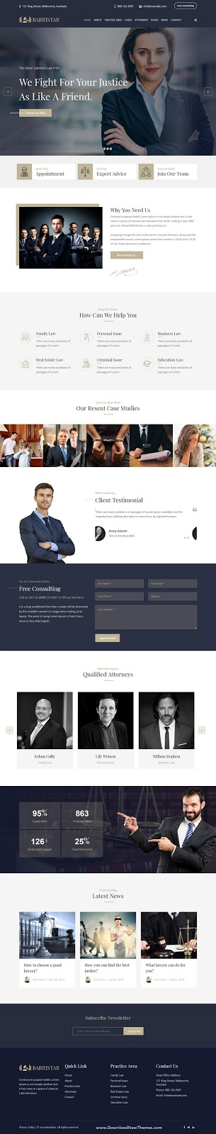 Lawyers Attorneys and Law Firm Theme