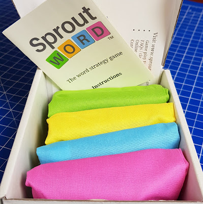 Sproutword box contents instructions and 4 cloth bags