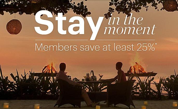 Stay In The Moment~IHG洲際酒店會員可在全球各地的特定酒店節省至少25%(9/24前預訂)