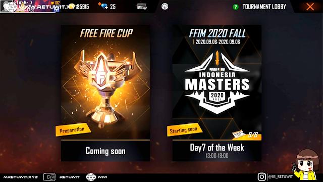 Cara daftar Free Fire Indonesia Master Fall 2020