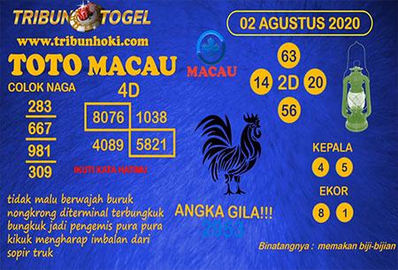 Prediksi Tribun Togel Toto Macau Minggu 02 Agustus 2020