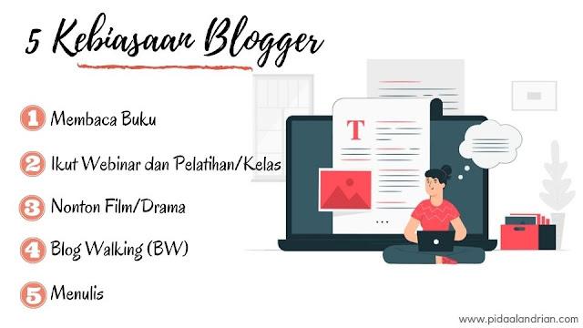 Kebiasaan blogger