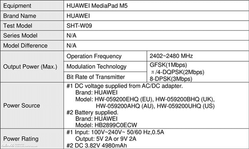 MediaPad M5 details
