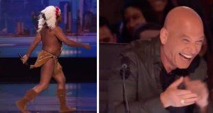 El competidor se va detrás del escenario: cuando regresa, es imposible no reírse!