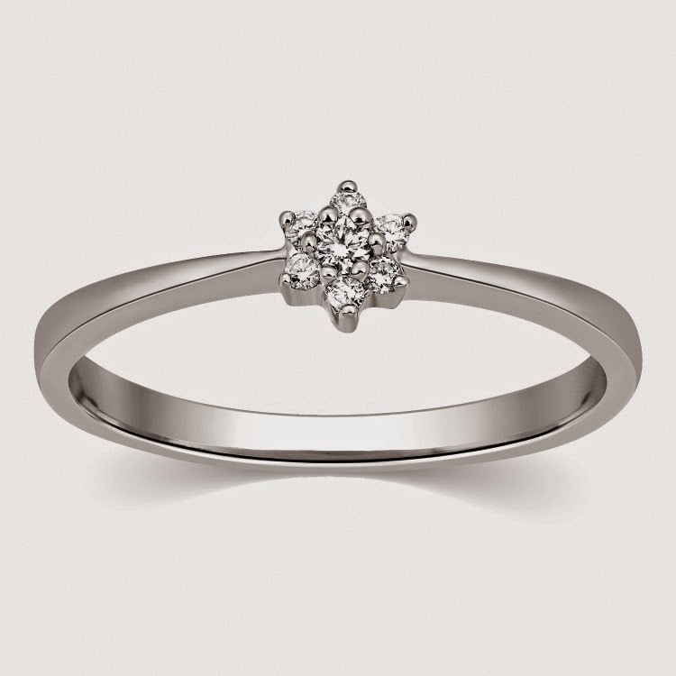 Seven Diamond Platinum Ring by Suranas Jewelove SJ PTO 302