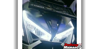 Tampilan Modifikasi Lampu Motor Aerox 155 VVA