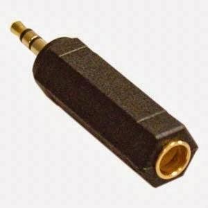 Adaptador de Jack 1/4 a 3.5mm
