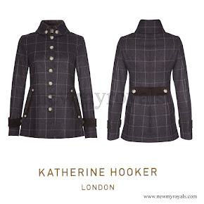 Kate Middleton wore a new jacket from Katherine Hooker