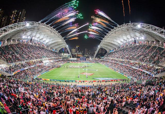 Estádio lotado para a abertura do Hong Kong Rugby Sevens
