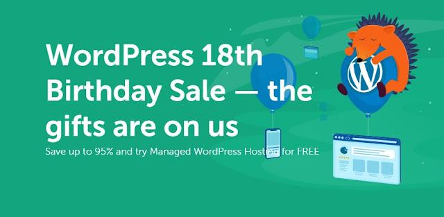 Namecheap WordPress 18th birthday