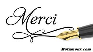 message merci photo