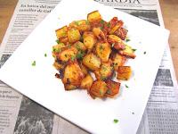 Pulpo con patatas al horno.