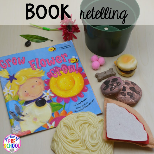 Spring themed book retelling plus Plant Needs and Life Cycle Posters FREEBIE. Prefect for preschool, pre-k, and kindergarten.