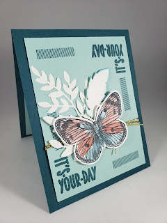 Butterfly Card with white die cuts