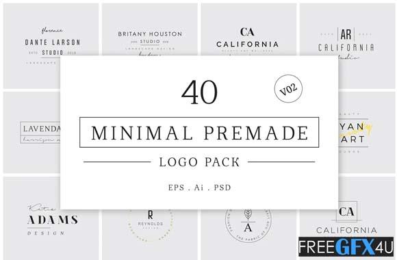 Minimal Premade Logo Pack V02