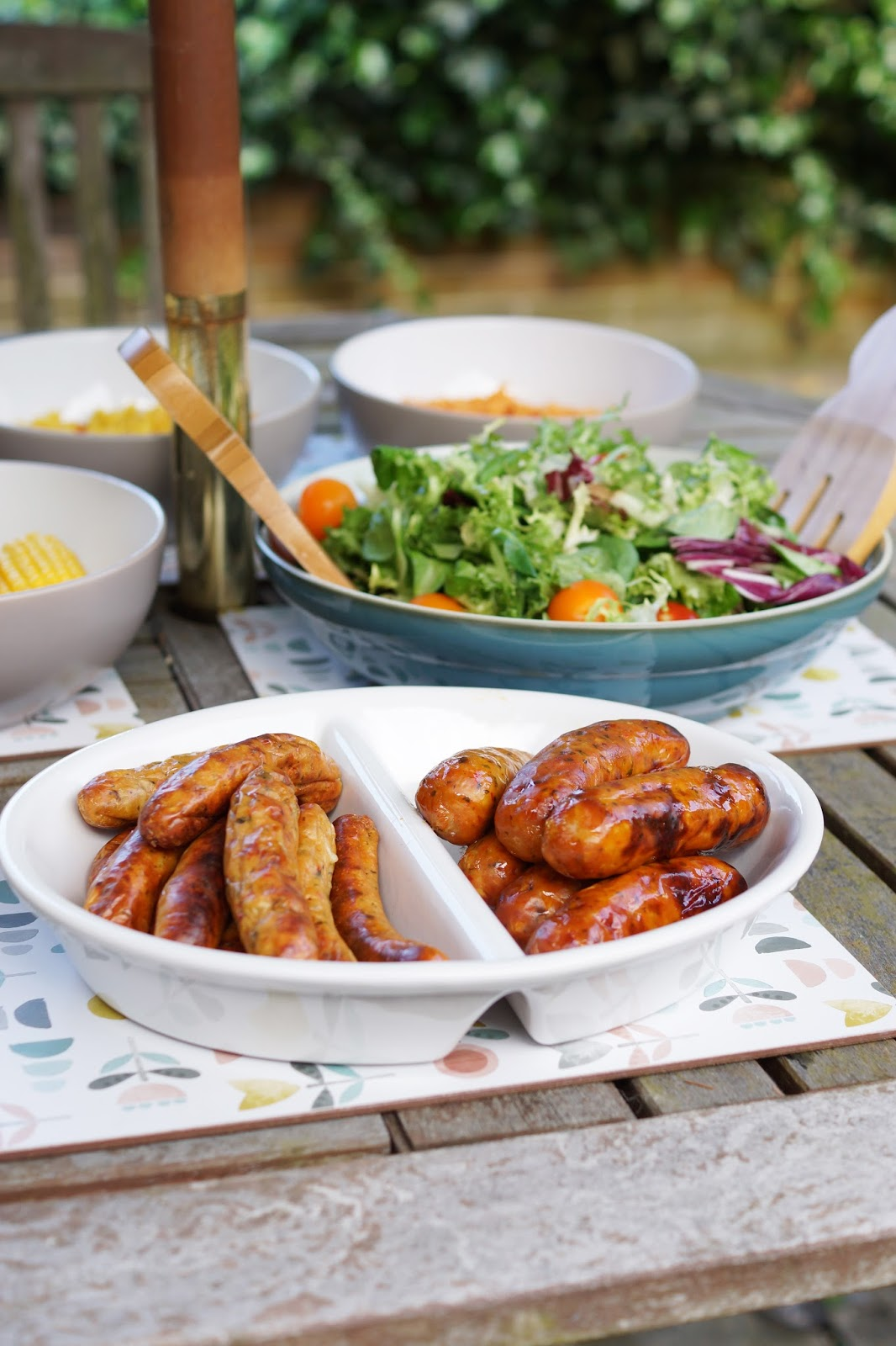 Hello Freckles Summer Dining BBQ Al Fresco Food MOR Sausages Review