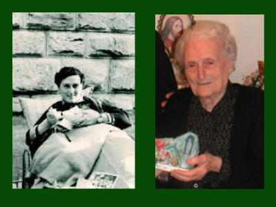 Anna Santaniello, antes da cura e 50 anos depois
