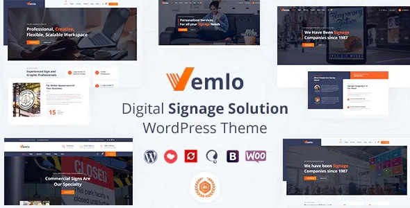 Best Signage Services WordPress Theme