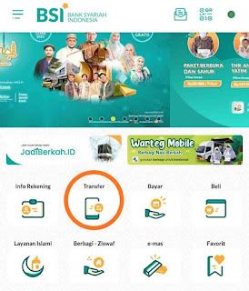 Fitur Transfer Bank Syariah Indonesia