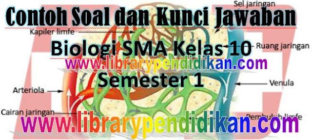 Download Soal Latihan dan Kunci Jawaban UAS Biologi SMA Kelas 11 Semester 1