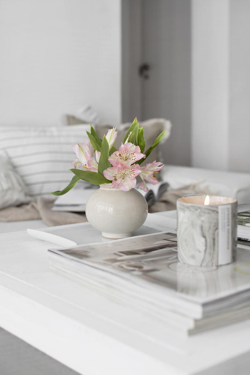 FLOR ASTROMELIA EN JARRÓN H&M HOME / ASTROMELIA FLOWER IN VASE H&M HOME