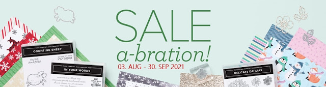 Stampin Up Sale-A-Bration 2021 August-September