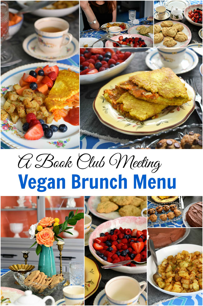 A simple, delicious dairy-free, vegan brunch menu, perfect for a book club meeting with friends