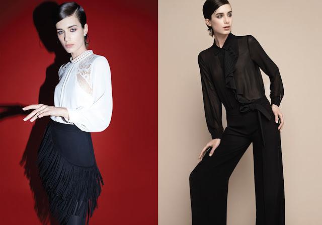Blusas con transparencias otoño invierno 2018 moda mujer.
