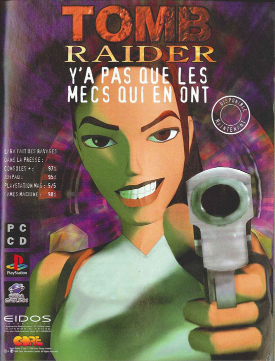 Tomb Raider advertising 1996