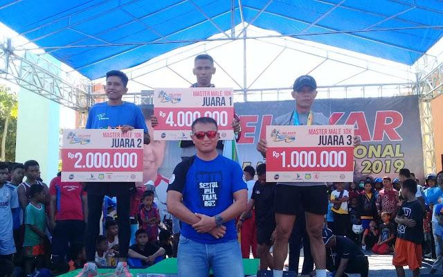 Atlet Lari Satjar Divif 3 Kostrad Raih Prestasi di Selayar Half Marathon